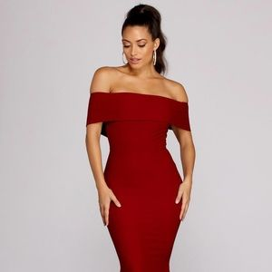 Burgundy Mermaid Dress